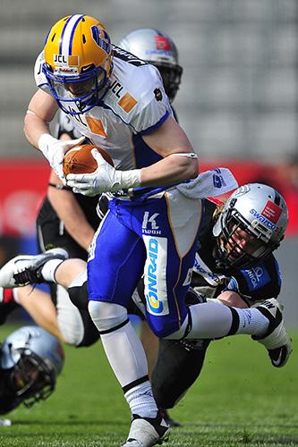 INNSBRUCK, FOOTBALL AFL, 23.03.2013, Raiders Tirol vs Graz Giants