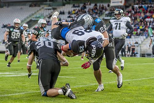 INNSBRUCK, FOOTBASwarco Raiders Tirol vs Prague Panthers