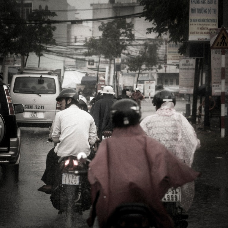 Regen in Ho Chi Minh City (Saigon)